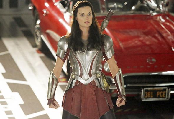 "Jaimie Alexander as Lady Sif in Season 1, Episode 15 of ""Marvel's Agents of S.H.I.E.L.D."" entitled ""Yes Men."" Photo Credit: Marvel/ABC via TV Guide"