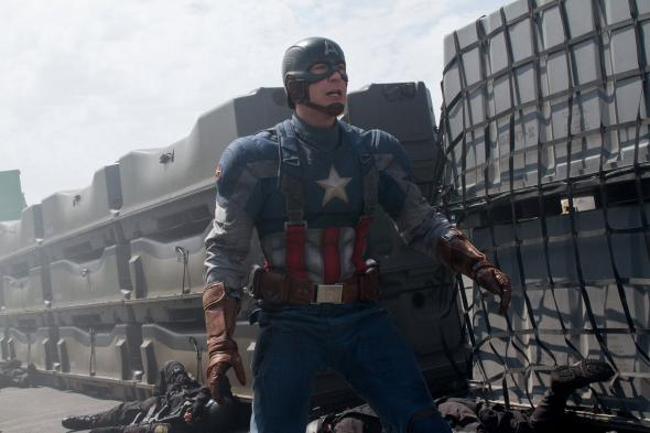 "Chris Evans as Captain America in ""Captain America: The Winter Soldier."" Photo Credit: Marvel"