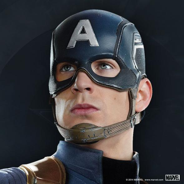 "Chris Evans as Captain America in a Promotional Image for ""Captain America: The Winter Soldier."" Photo Credit: Marvel via Skype."