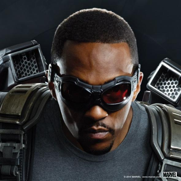 "Anthony Mackie as The Falcon in a Promotional Image for ""Captain America: The Winter Soldier."" Photo Credit: Marvel via Skype"