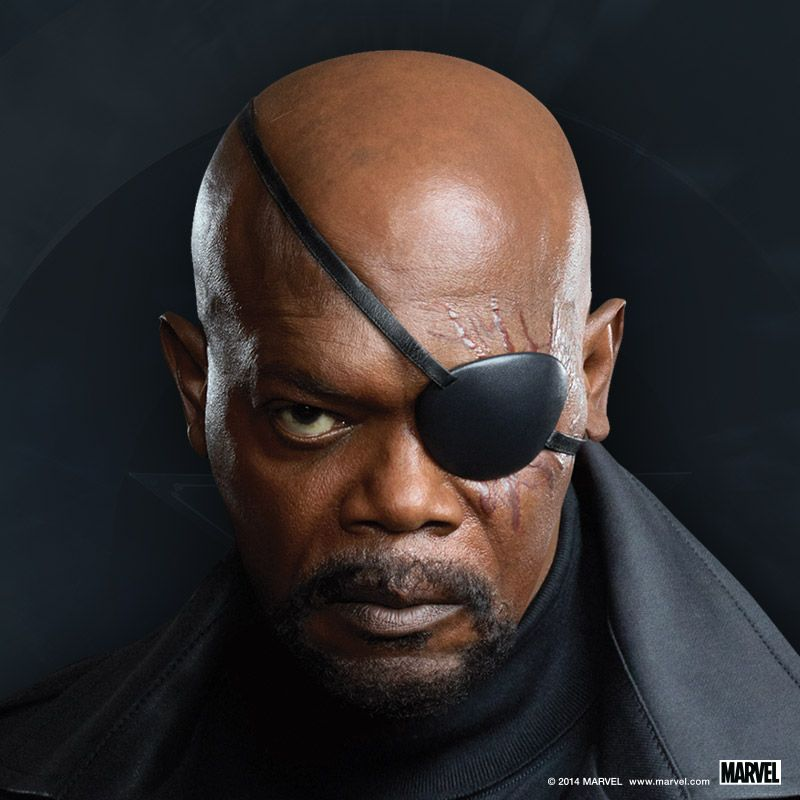 "Samuel L. Jackson as Nick Fury in a Promotional Image for ""Captain America: - Captain-America-The-Winter-Soldier-Nick-Fury"