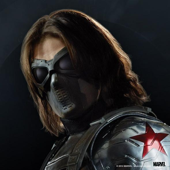 "Sebastian Stan as Bucky Barnes aka The Winter Soldier in a Promotional Image for ""Captain America: The Winter Soldier."" Photo Credit: Marvel via Skype"