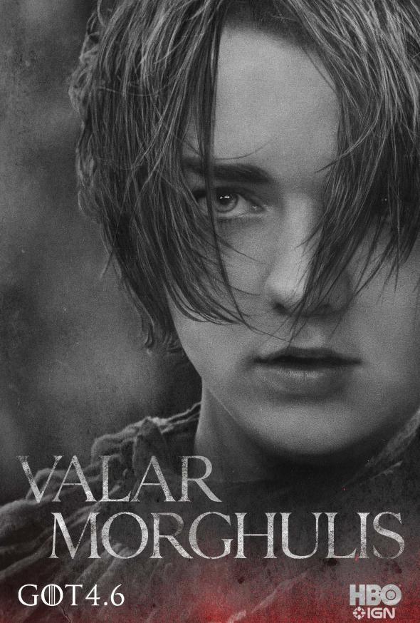 "Maisie Williams as Arya Stark in a Promotional Poster for Season 4 of ""Game of Thrones."" Photo Credit: HBO via IGN"