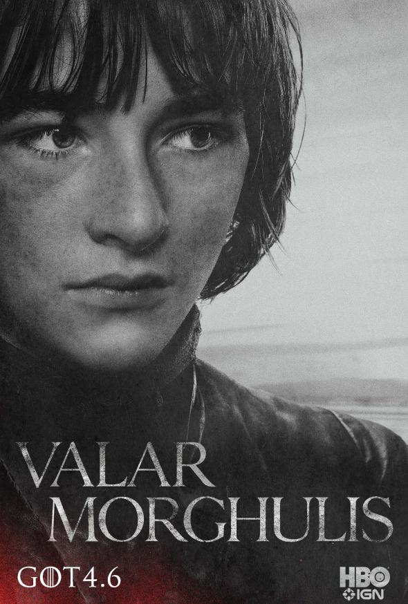 "Isaac Hempstead Wright as Bran Stark in a Promotional Poster for Season 4 of ""Game of Thrones."" Photo Credit: HBO via IGN"
