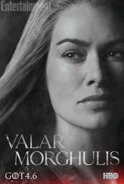 "Lena Headey as Cersei in a character poster for Season 4 of ""Game of Thrones."" Photo Credit: HBO via Entertainment Weekly"