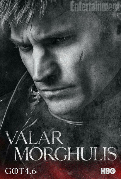 "Nikolaj Coster-Waldau as Jaime Lannister in a character poster for Season 4 of ""Game of Thrones."" Photo Credit: HBO via Entertainment Weekly"