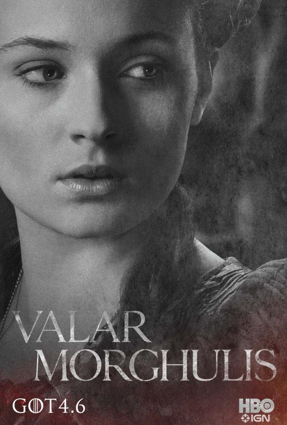 "Sophie Turner as Sansa Stark in a Promotional Poster for Season 4 of ""Game of Thrones."" Photo Credit: HBO via IGN"