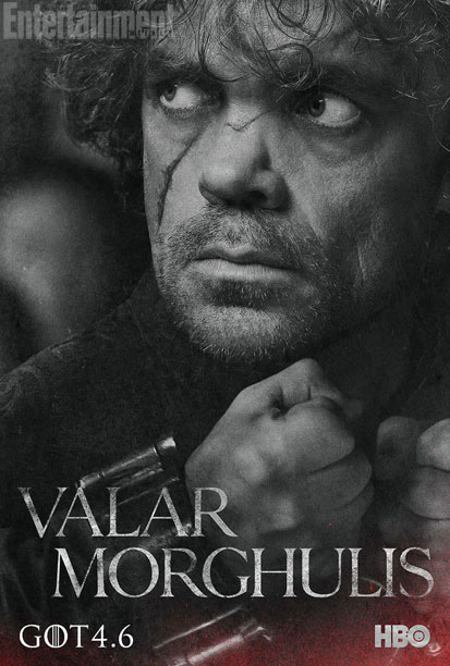 "Peter Dinklage as Tyrion Lannister in a character poster for Season 4 of ""Game of Thrones."" Photo Credit: HBO via Entertainment Weekly"
