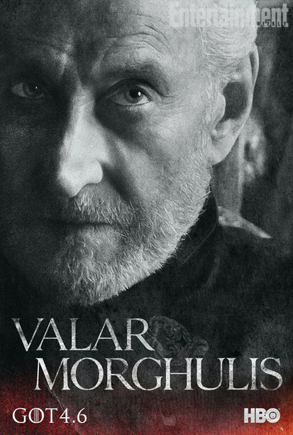 "Charles Dance as Tywin Lannister in a character poster for Season 4 of ""Game of Thrones."" Photo Credit: HBO via Entertainment Weekly"