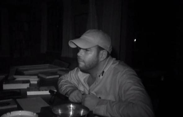 "Steve Gonsalves in an episode of ""Ghost Hunters"" entitled ""Family Plot."" Photo Credit: SyFy"
