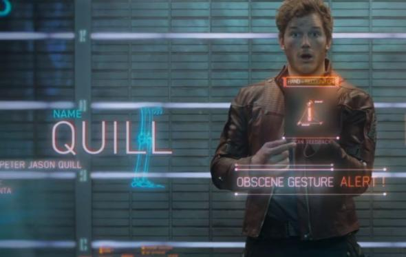 "Chris Pratt as Peter Quill a.k.a Star-Lord in the film ""Guardians of the Galaxy."" Photo Credit: Marvel"