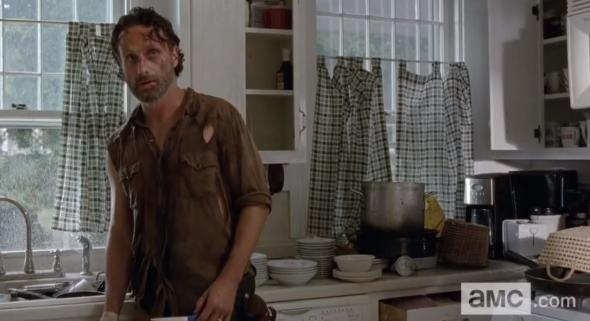 "Andrew Lincoln as Rick Grimes in Season 4, Episode 11 of ""The Walking Dead"" entitled ""Claimed."" Photo Credit: AMC"