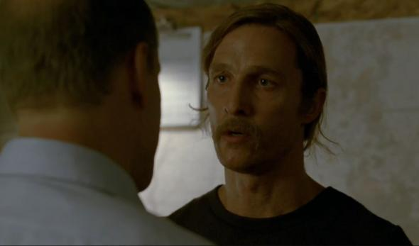 "Matthew McConaughey and Woody Harrelson as Rust Cohle and Martin Hart in Season 1 Episode 7 of ""True Detective"" entitled ""After You've Gone."" Photo Credit: HBO"