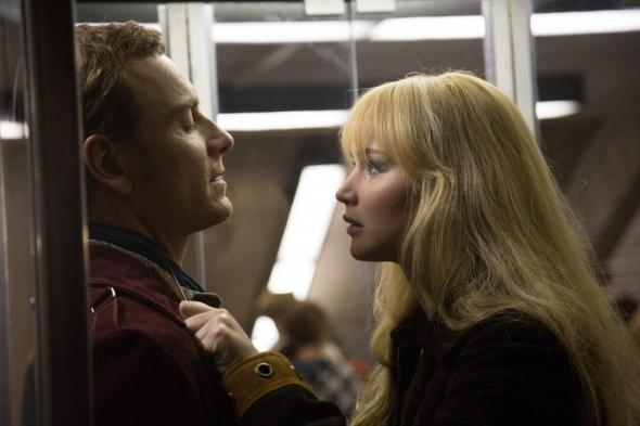 "Michael Fassbender and Jennifer Lawrence as a Young Magneto and Mystique in ""X-Men: Days of Future Past."" Photo Credit: Total Film"