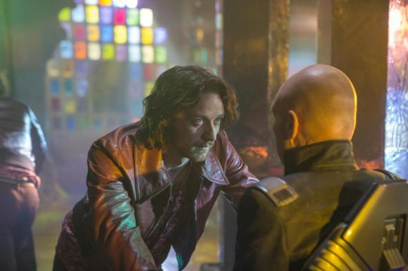 "James McAvoy and Patrick Stewart as the past and present Professor X in ""X-Men: Days of Future Past."" Photo Credit: Total Film"