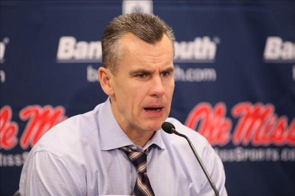 Feb 22, 2014; Oxford, MS, USA; Florida Gators head coach Billy Donovan speaks tot he media after the game against the Mississippi Rebels at Tad Smith Coliseum. Florida defeated Mississippi 75-71. Mandatory Credit: Nelson Chenault-USA TODAY Sports