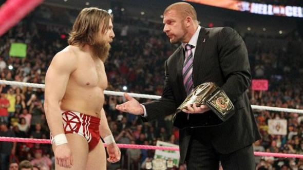 WWE's Daniel Bryan and Triple H during Monday Night RAW.