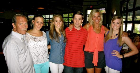 (From left to right:) Father Dale, sisters Ashley, Christie, myself, my mother, and sister Maddie