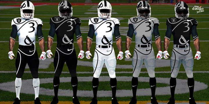 Raiders New Uniforms 2014 Futuristic concept uniforms