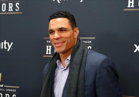 Feb 1, 2014; New York, NY, USA; Atlanta Falcons tight end Tony Gonzalez walks the red carpet prior to the NFL Honors at Radio City Music Hall. Mandatory Credit: Mark J. Rebilas-USA TODAY Sports