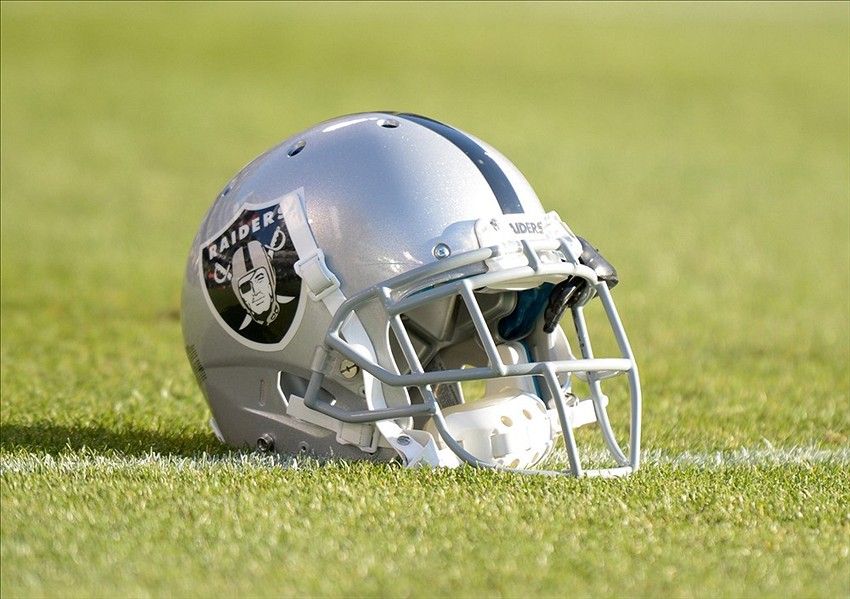 aug 23 2013 oakland ca usa general view of an oakland raiders helmet