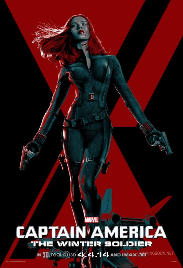 "Scarlett Johansson as Black Widow in ""Captain America: The Winter Soldier."" Photo Credit: Marvel via ComingSoon.net"