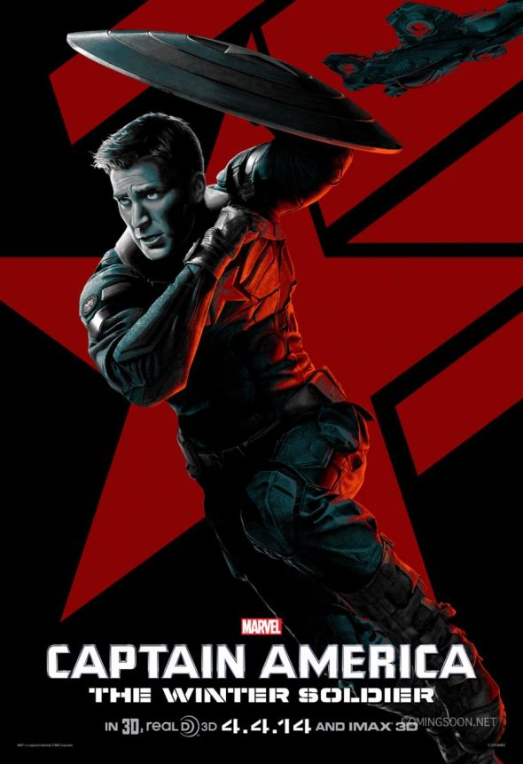 "Chris Evans as Captain America in ""Captain America: The Winter Soldier."" Photo Credit: Marvel via ComingSoon.net"