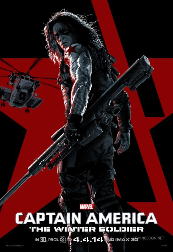 "Sebastian Stan as The Winter Soldier in ""Captain America: The Winter Soldier."" Photo Credit: Marvel via ComingSoon.net"