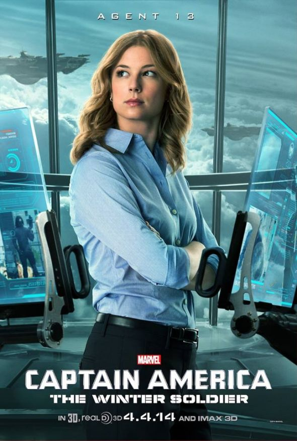 "Emily VanCamp as Sharon Carter a.k.a. Agent 13 in ""Captain America: The Winter Soldier."" Photo Credit: Marvel"