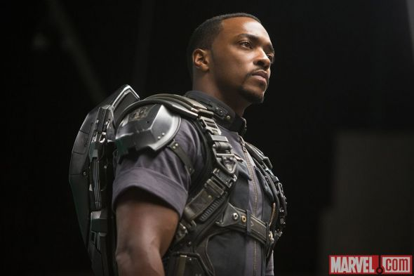 """Anthony Mackie as Falcon in """"Captain America: The Winter Soldier."""" Photo Credit: Marvel"""