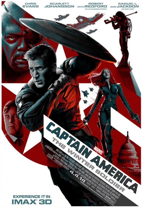 "New IMAX Poster for ""Captain America: The Winter Soldier."" Photo Credit: Marvel/IMAX"