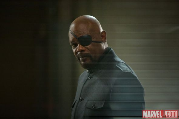 """Samuel L. Jackson as Nick Fury in """"Captain America: The Winter Soldier."""" Photo Credit: Marvel"""