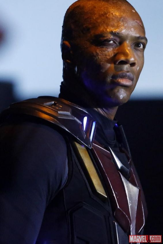"J. August Richards as Deathlok in Season 1 Episode 16 of ""Marvel's Agents of S.H.I.E.L.D."" entitled ""End of the Beginning."" Photo Credit: Marvel"