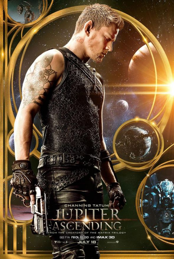 "Channing Tatum as Caine in a Promotional Poster for the film ""Jupiter Ascending."" Photo Credit: Warner Bros. Pictures"
