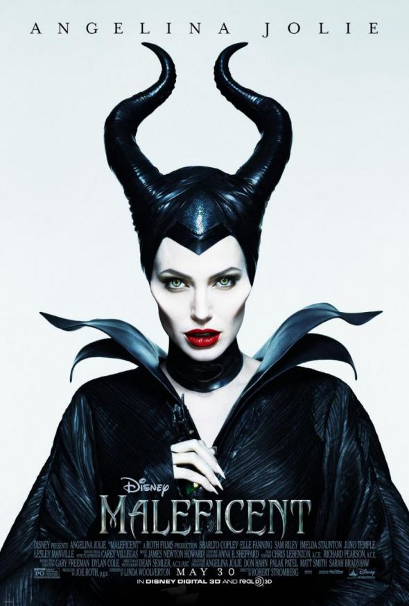 "Angelina Jolie as th Disney villain Maleficent in a promo poster for the film ""Maleficent."" Photo Credit: Walt Disney"