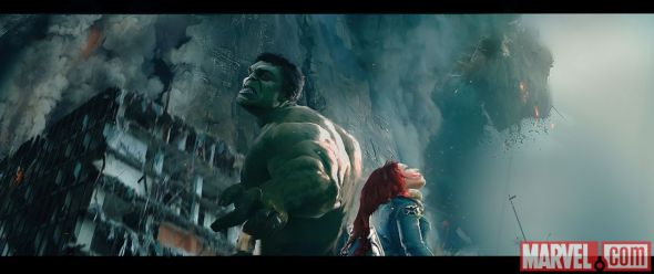 "Hulk and Black Widow in Concept Art for ""Avengers: Age of Ultron."" Photo Credit: Marvel"