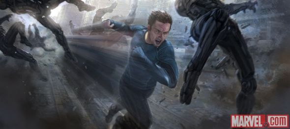 "Aaron Taylor Johnson as Quicksilver in the Concept Art for ""Avengers: Age of Ultron."" Photo Credit: Marvel"