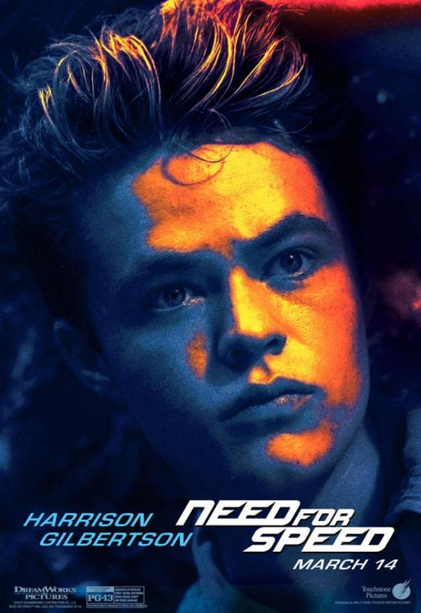 "Harrison Gilbertson as Little Pete in ""Need For Speed."" Photo Credit: Walt Disney/DreamWorks SKG"
