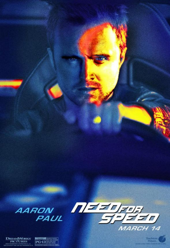 "Aaron Paul as Tobey Marshall in ""Need For Speed."" Photo Credit: Walt Disney/DreamWorks SKG"