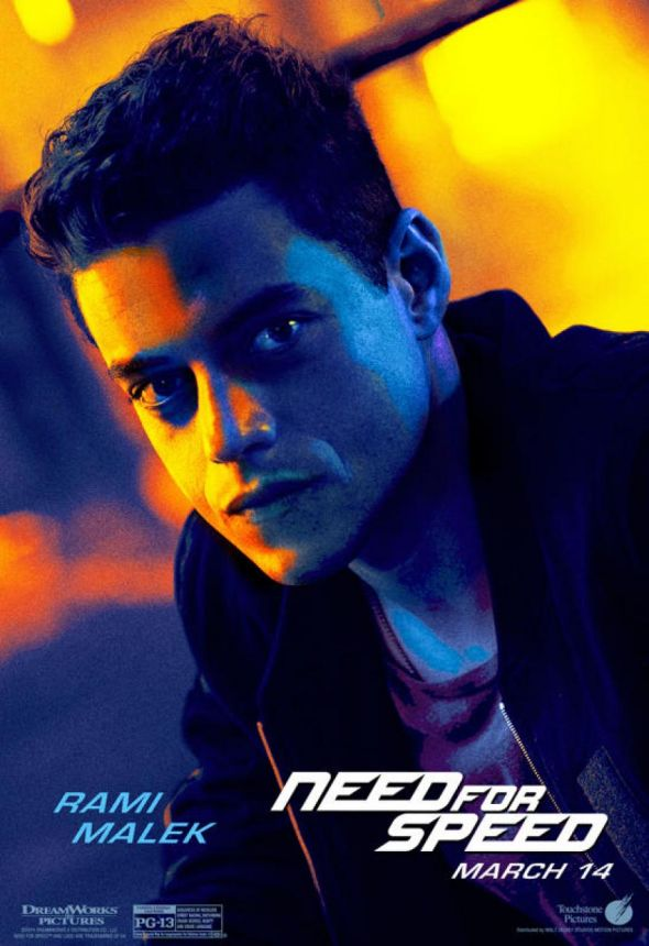 "Rami Malek as Finn in ""Need For Speed."" Photo Credit: Walt Disney/DreamWorks SKG"