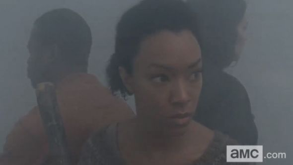 "Sonequa Martin-Green as Sasha in Season 4 Episode 13 of ""The Walking Dead"" entitled ""Alone."" Photo Credit: AMC"