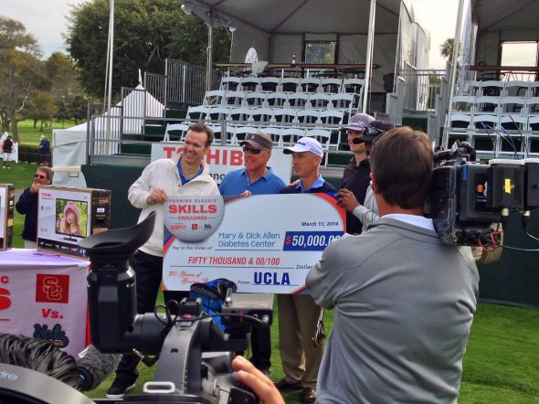 Team UCLA wins the skills challenge at the Toshiba Classic. Photo Credit: Bernie D'Amato - FanSided.com.
