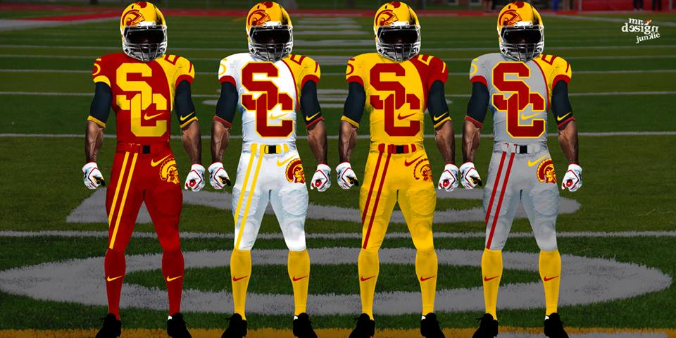 futuristic concept ncaa football uniforms for many teams photos   fansided   sports news