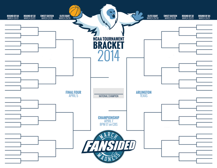 ncaa bracket 2014 blank printable bracket for selection