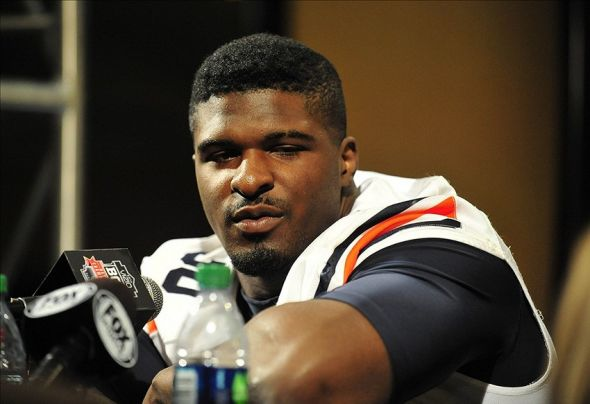 January 4, 2014; Newport Beach, CA, USA; Auburn Tigers defensive end Dee Ford (30) speaks with media during media day at the Newport Beach Marriott. Mandatory Credit: Gary A. Vasquez-USA TODAY Sports