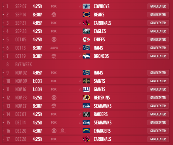 Check out the 49ers    full 2014 schedule below