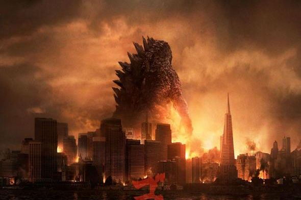 "Promotional Poster for the film ""Godzilla."" Photo Credit: Legendary Pictures via Yahoo! Movies"