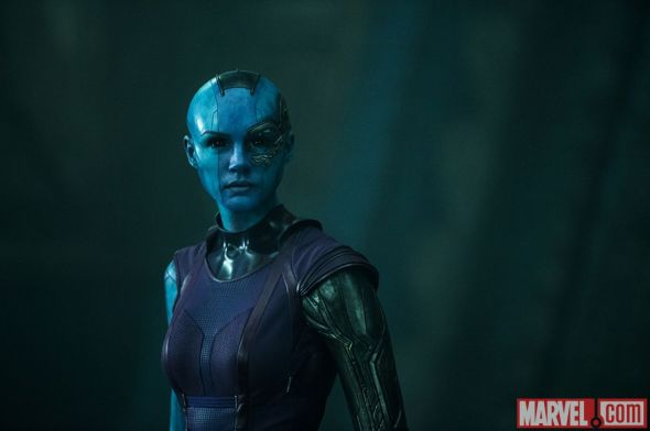 "Karen Gillan as Nebula in ""Guardians of the Galaxy."" Photo Credit: Marvel"