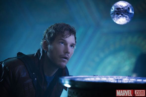 "Chris Pratt as Peter Quill a.k.a. Star-Lord in ""Guardians of the Galaxy."" Photo Credit: Marvel"