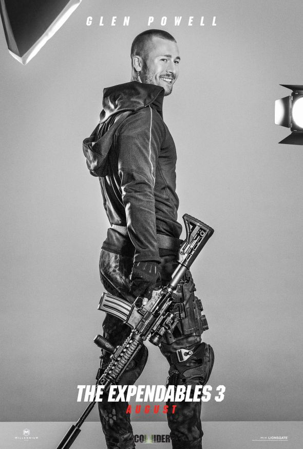 """Glen Powell as Thorn/Wifi in the film """"The Expendables 3."""" Photo Credit: Lionsgate via Collider"""